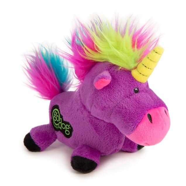 goDog Purple Unicorn Dog Toy, Small - Carousel image #1