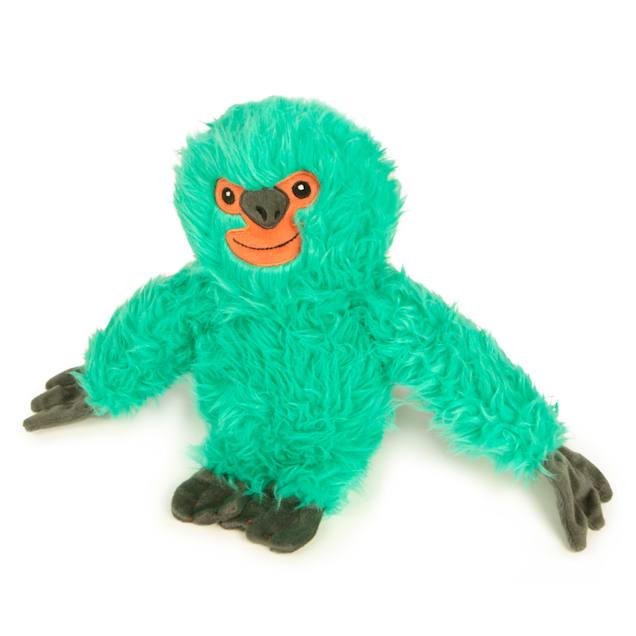 goDog Teal Fuzzy Sloth Dog Toy, Large - Carousel image #1