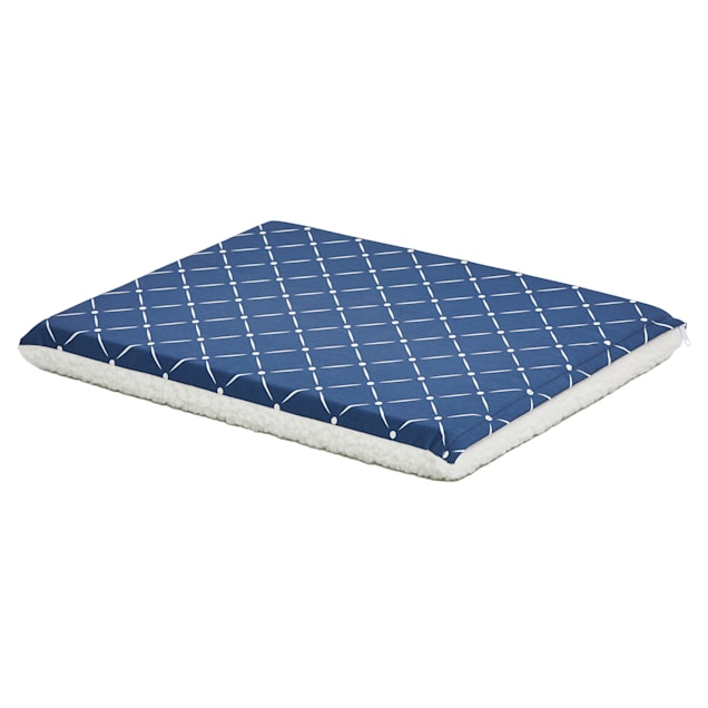 """Midwest Quiet Time Couture Paxton Reversible Blue Dog Bed, 24"""" L X 18.25"""" W - Carousel image #1"""