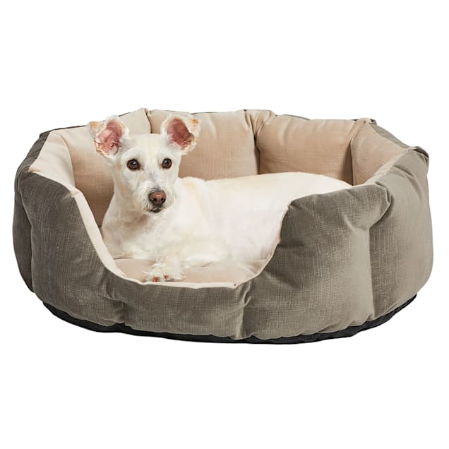 """Midwest Quiet Time Deluxe Tulip Nesting Gray Dog Bed, 22"""" L X 13"""" W - Carousel image #1"""