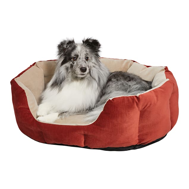 """Midwest Quiet Time Deluxe Tulip Nesting Dog Bed Russet, 22"""" L X 13"""" W - Carousel image #1"""