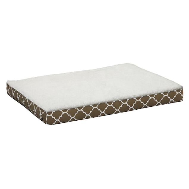"""Midwest Quiet Time Defender Double Orthopedic Dog Bed with Teflon Brown, 30.25"""" L X 40"""" W - Carousel image #1"""