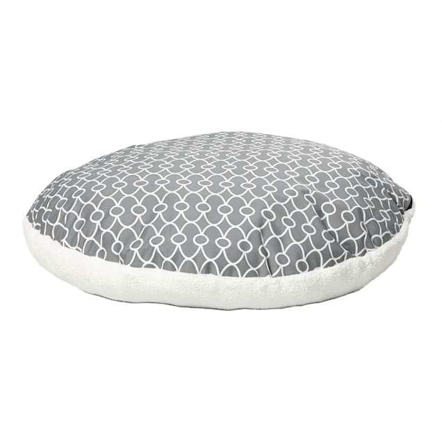 """Midwest Quiet Time Defender Polyfill Gray Round Dog Pillow, 29"""" L X 28"""" W - Carousel image #1"""