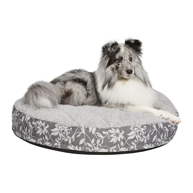 "Midwest Quiet Time Couture Empress Mattress White or Ivory Dog Bed, 29"" L X 28"" W - Carousel image #1"