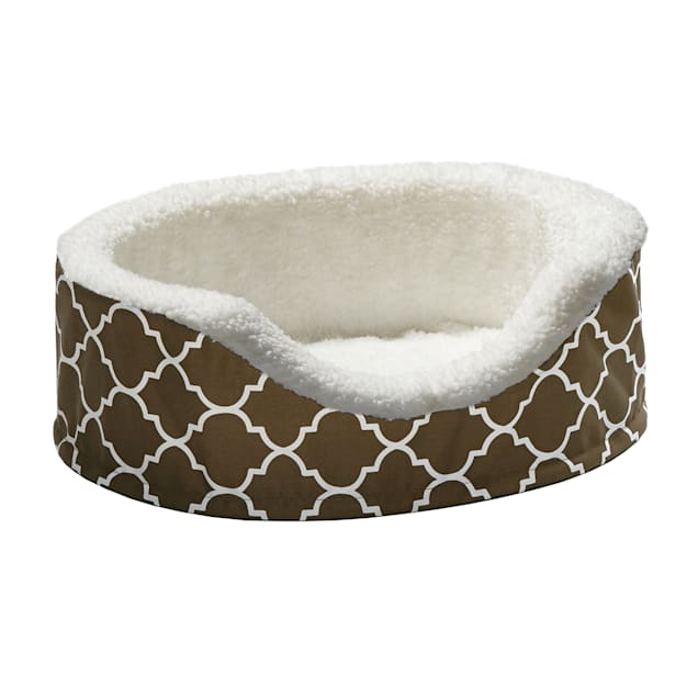 """Midwest Quiet Time Defender Orthopedic Nesting Brown Dog Bed, 14.25"""" L X 17.75"""" W - Carousel image #1"""