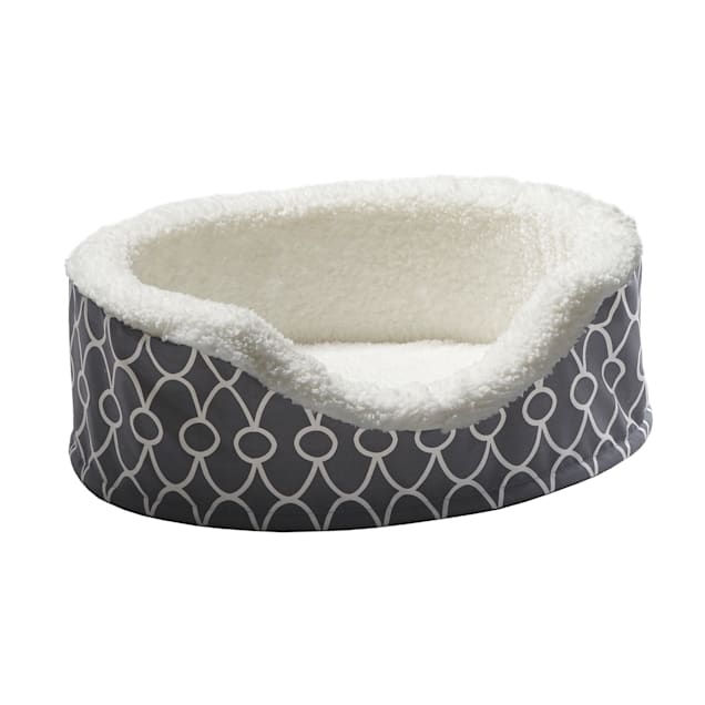 """Midwest Quiet Time Defender Orthopedic Nesting Gray Dog Bed, 14.25"""" L X 17.75"""" W - Carousel image #1"""