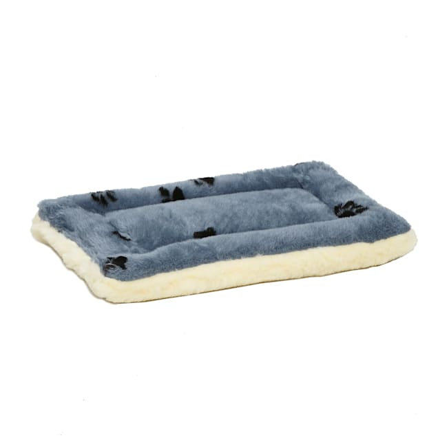"Midwest Quiet Time Reversible Paw Print Bed for Dogs, 17.25"" L X 11.25"" W - Carousel image #1"