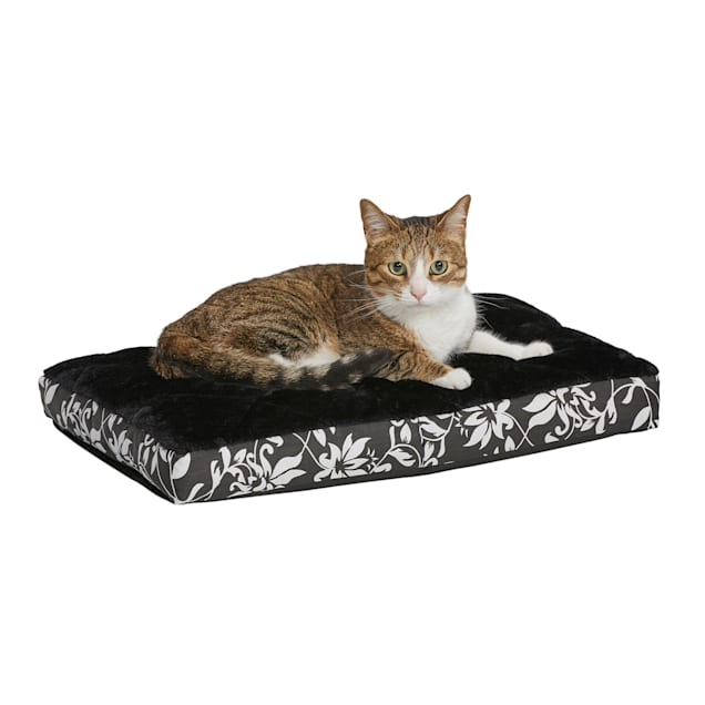 """Midwest Quiet Time Couture Carlisle Mattress Black Floral Dog Bed, 22"""" L X 13"""" W - Carousel image #1"""