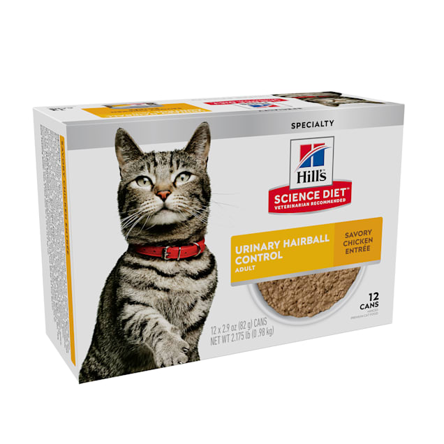 Hill's Science Diet Adult Urinary & Hairball Control Wet Canned Cat Food Multipack, 2.9 oz., Count of 12 - Carousel image #1