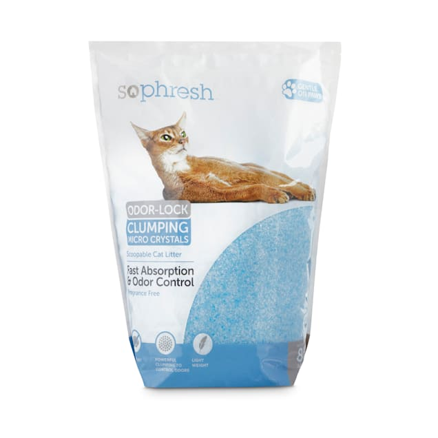 So Phresh Scoopable Odor-Lock Clumping Micro Crystal Cat Litter in Blue Silica, 8 lbs. - Carousel image #1