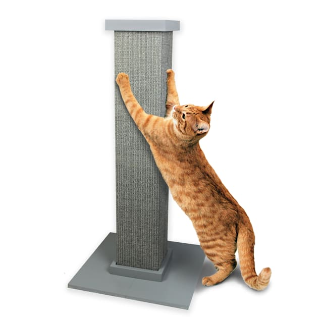"Pioneer Pet Ultimate Scratching Post Grey For Cats, 32"" H - Carousel image #1"