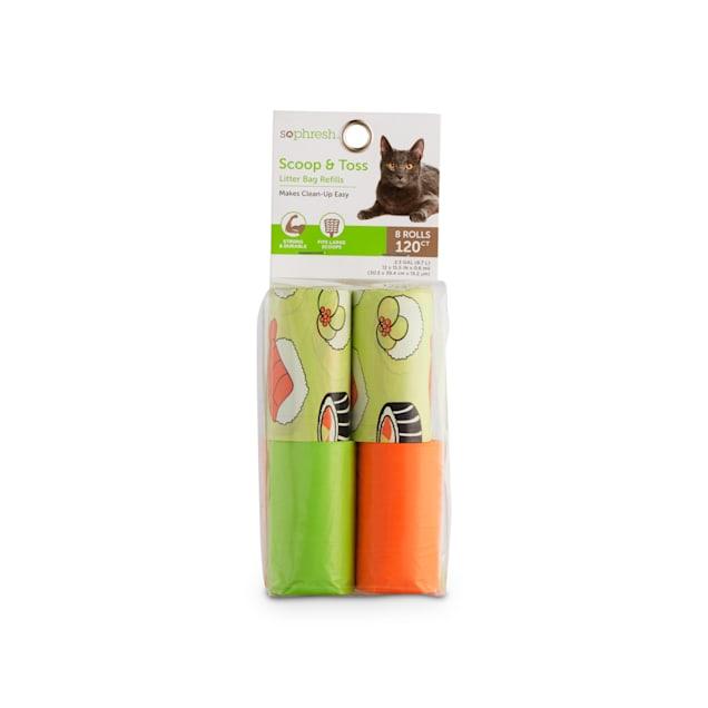 So Phresh Scoop & Toss Sushi Print Cat Litter Bag Refills, Count of 120 - Carousel image #1