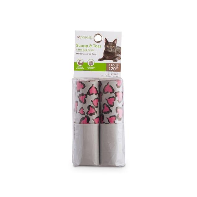So Phresh Scoop & Toss Heart Print Cat Litter Bag Refills, Count of 120 - Carousel image #1