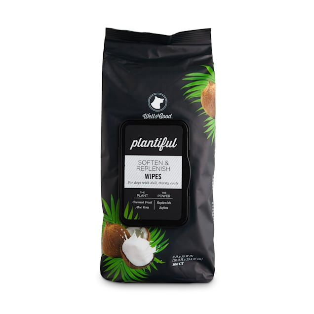 Well & Good Plantiful Soften & Replenish Coconut Dog Wipes, Count of 100 - Carousel image #1