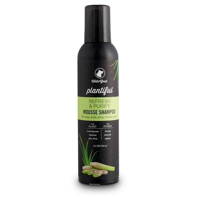 Well & Good Plantiful Refresh & Purify Lemongrass Dog Mousse Shampoo, 8.5 fl. oz. - Carousel image #1