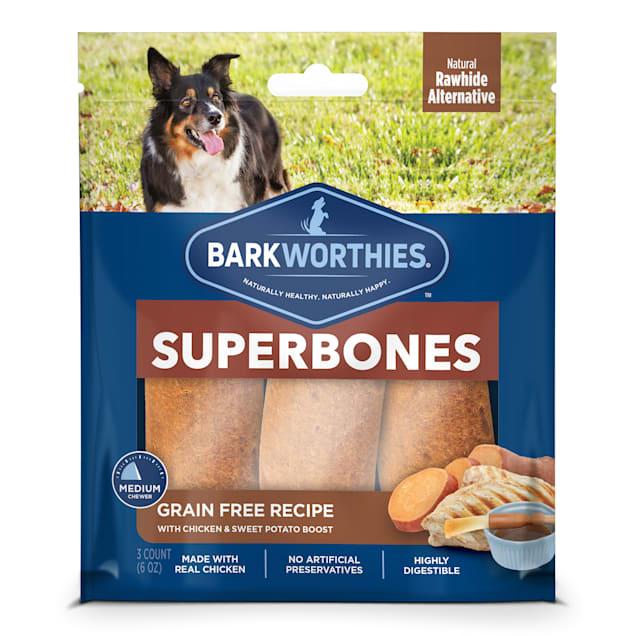Barkworthies Grain Free Chicken & Sweet Potato Superbone Dog Treats, 6 oz., Count of 3 - Carousel image #1