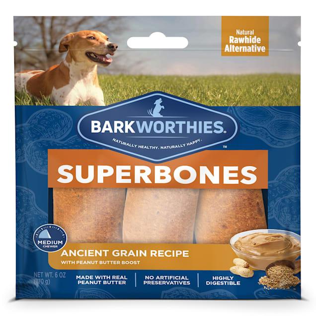 Barkworthies Ancient Grain Peanut Butter Superbone Dog Treats, 6 oz., Count of 3 - Carousel image #1