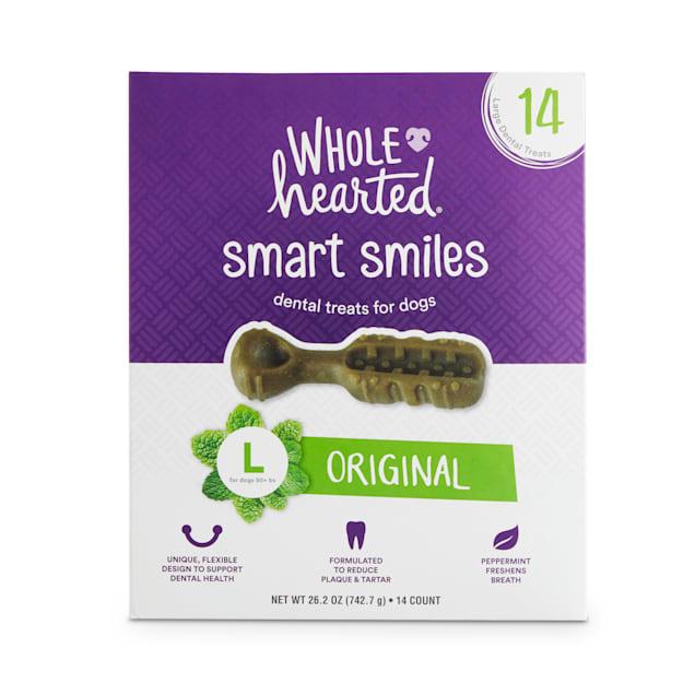 Wholehearted Smart Smiles Original Flavor Large Dog Dental Treats, 26.2 oz., Count of 14 - Carousel image #1