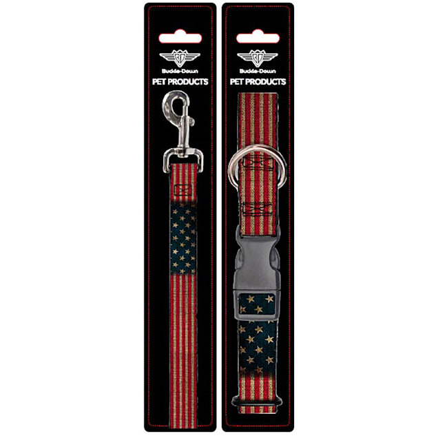 Buckle-Down United States Collar and Leash Set for Dogs, Small - Carousel image #1
