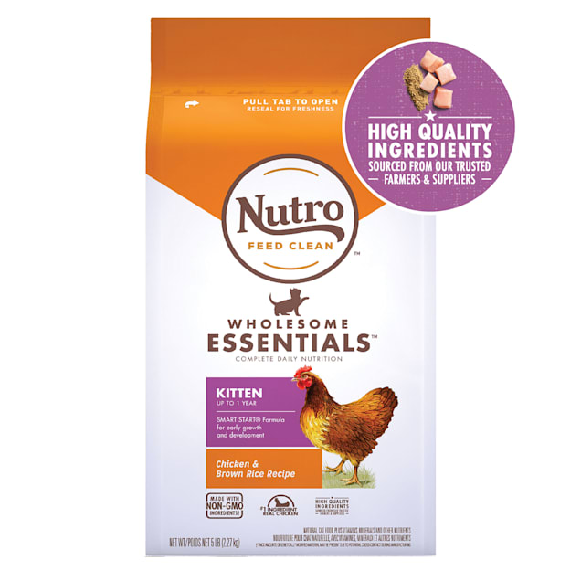 Nutro Wholesome Essentials Natural Chicken & Brown Rice Recipe Dry Kitten Food, 5 lbs. - Carousel image #1