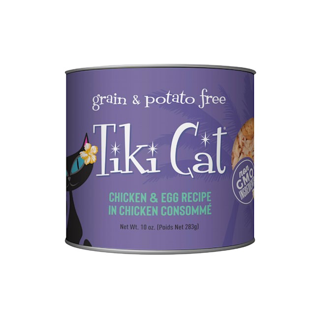 Tiki Cat Luau Koolina Chicken & Egg Wet Food, 10 oz., Case of 8 - Carousel image #1