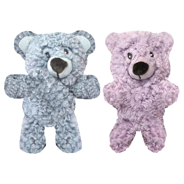 Multipet Aromadog Calming Bear Shaped Fleece Plush Assorted Dog Toy, X-Small - Carousel image #1
