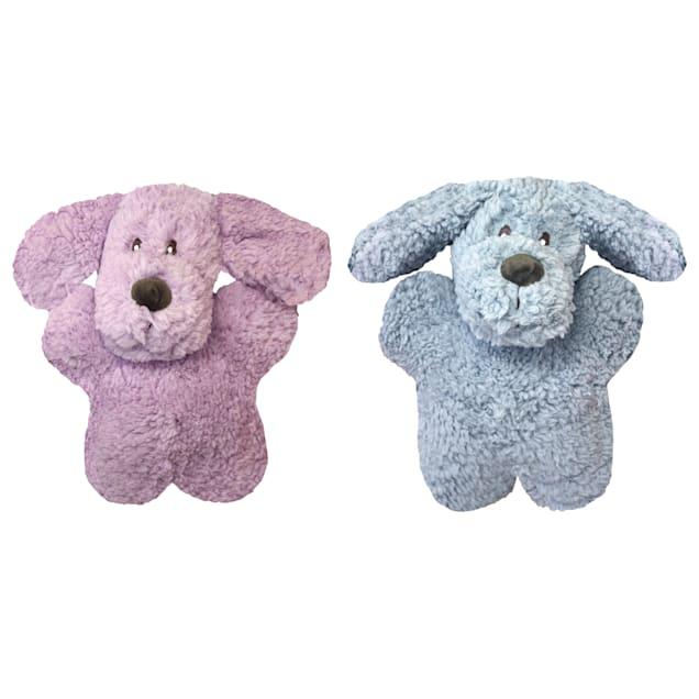 Multipet Aromadog Calming Dog Shaped Fleece Plush Assorted Dog Toy, Medium - Carousel image #1