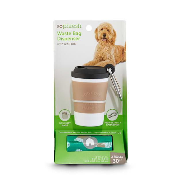 So Phresh Coffee Cup Dog Waste Bag Dispenser & Refill Rolls - Carousel image #1