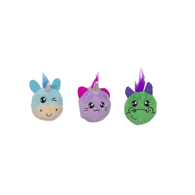 Petstages Magical Animals Cat Toy, Medium, Pack of 3 - Carousel image #1