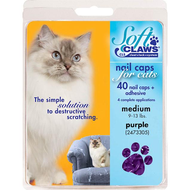 Soft Claws Purple Cat Nail Caps, Medium - Carousel image #1