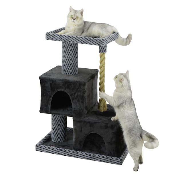 """Go Pet Club Sequoia 37"""" Cat Tree with Condos and Giant Rope - Carousel image #1"""