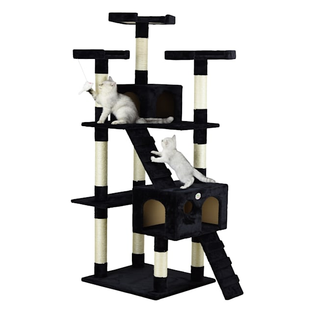 """Go Pet Club Black 72""""Cat Tree Condo with Two Ladders - Carousel image #1"""