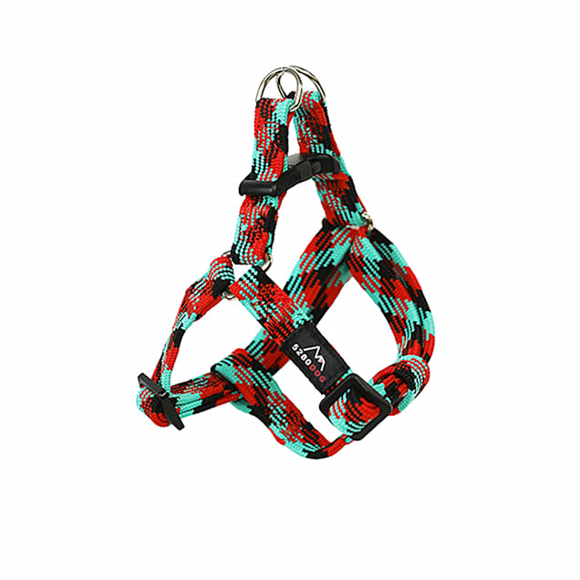 5280DOG Red Nylon Braided Step-In Harness, Small - Carousel image #1
