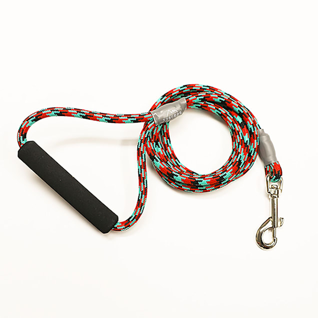 5280DOG Red Nylon Braided Rope Leash, Medium, 5 ft. - Carousel image #1