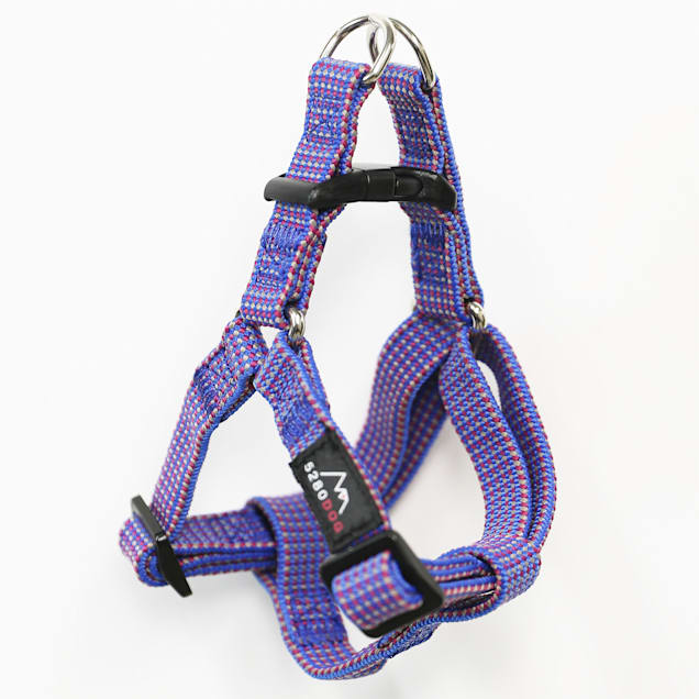 5280DOG Blue Nylon Braided Step-In Harness, Small - Carousel image #1