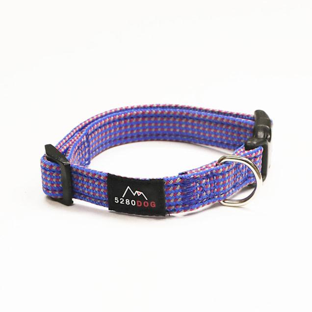 5280DOG Blue Nylon Braided Collar, Small - Carousel image #1