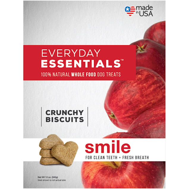 Isle of Dogs Everyday Essentials Smile Chunchy Biscuits Dog Treats, 12 oz. - Carousel image #1