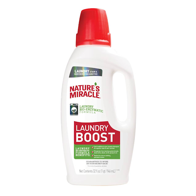 Nature's Miracle Laundry Stain and Odor Additive Bio-Enzymatic Formula for Pets, 32 fl. oz. - Carousel image #1