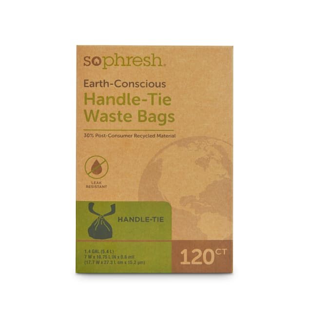 So Phresh Earth-Conscious Handle-Tie Dog Waste Bags, Count of 120 - Carousel image #1