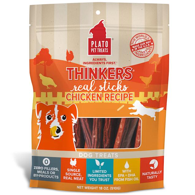 Plato Pet Thinkers Chicken Sticks Dog Treats, 18 oz. - Carousel image #1