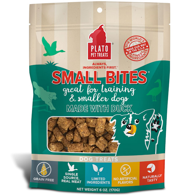 Plato Pet Small Bites Made with Duck Dog Treats, 6 oz. - Carousel image #1