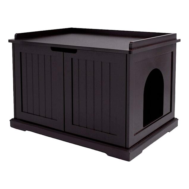 "UniPaws Espresso Litter Box Cat Furniture, 28.74"" L x 21.2"" W x 20.24"" H - Carousel image #1"