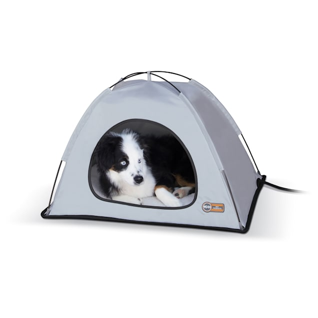 """K&H Thermo Tent Gray Pet Bed, 19""""L x 24""""W - Carousel image #1"""