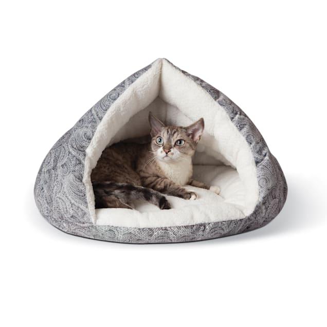 "K&H Self Warming Kitty Hut Gray Pet Bed, 19"" L X 18"" W - Carousel image #1"