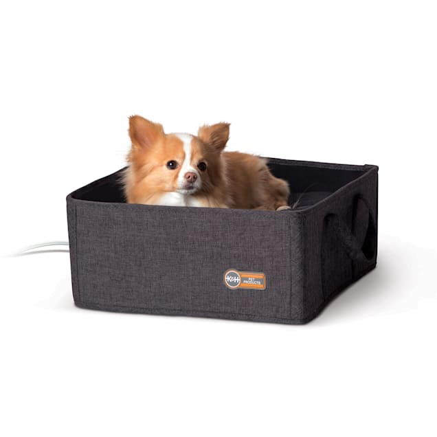 """K&H Thermo Basket Gray Pet Bed, 15"""" L X 15"""" W - Carousel image #1"""