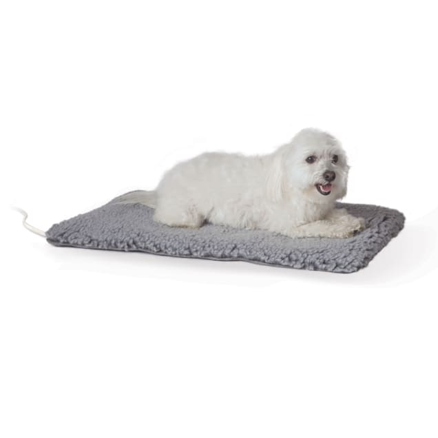 "K&H Thermo Plush Pad Gray Pet Bed, 28"" L X 17.5"" W - Carousel image #1"