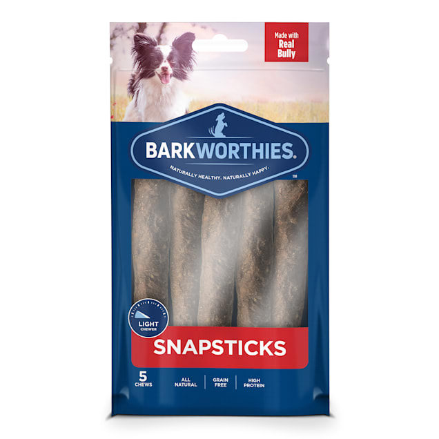 Barkworthies Small Snap Sticks Dog Treats, 0.219 lb., Count of 5 - Carousel image #1