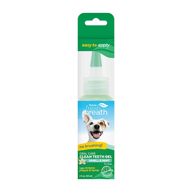 TropiClean Fresh Breath Vanilla Mint Clean Teeth Gel for Dogs, 2 fl. oz. - Carousel image #1