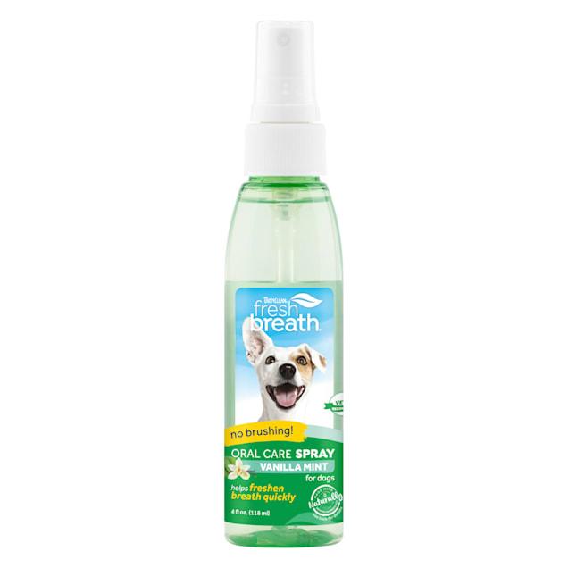TropiClean Fresh Breath Vanilla Mint Oral Care Spray for Dogs, 4 fl. oz. - Carousel image #1