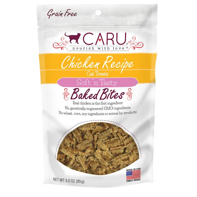 CARU Chicken Recipe Baked Bites Semi-moist Cat Treat, 3 oz. - Carousel image #1